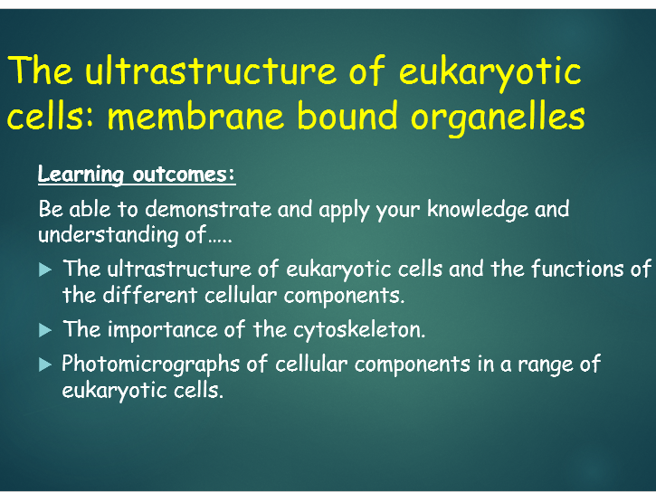 OCR A Level Biology (H020 - from 2015) 2.1.1 Cell Structure - Ultrastructure of eukaryotic cells