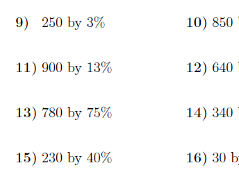 7 GCSE/IGCSE Worksheets on percentages (with solutions)