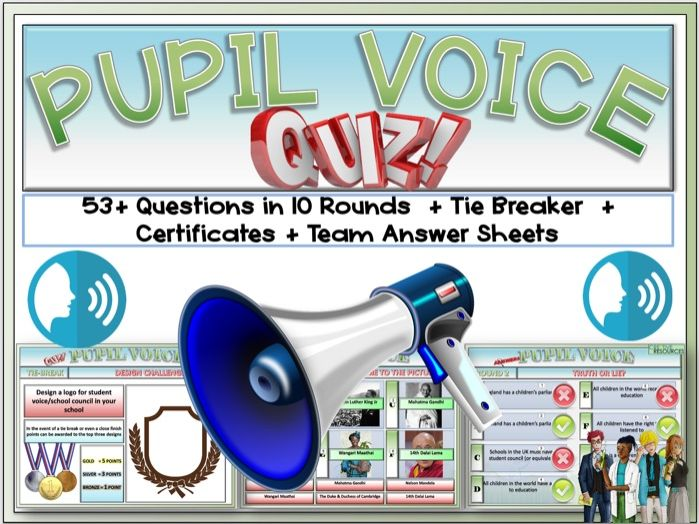 Pupil Voice week 2021 Quiz - Back To school