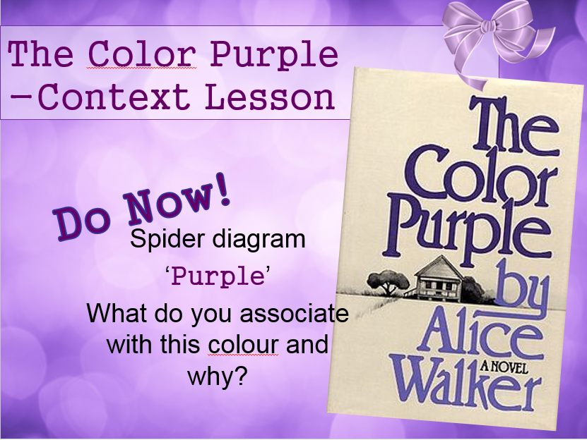 the color purple thesis statements