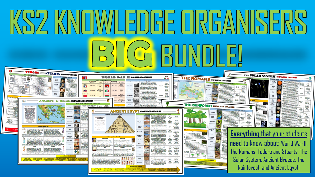 KS2 Knowledge Organisers Big Bundle!