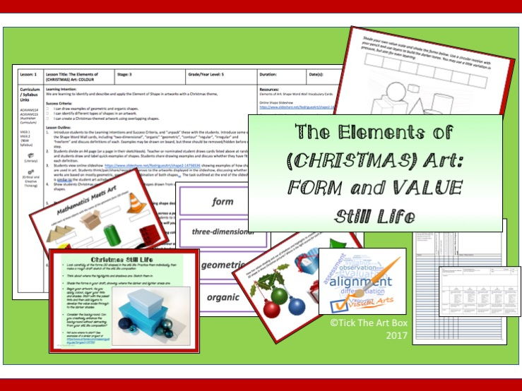 Elements of (Christmas) Art: Form and Value (Christmas-Themed Still Life)