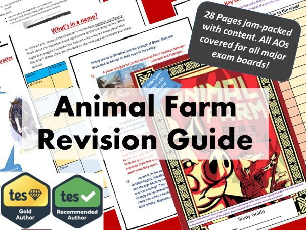 Animal Farm GCSE Revision Guide. 9-1 Spec.
