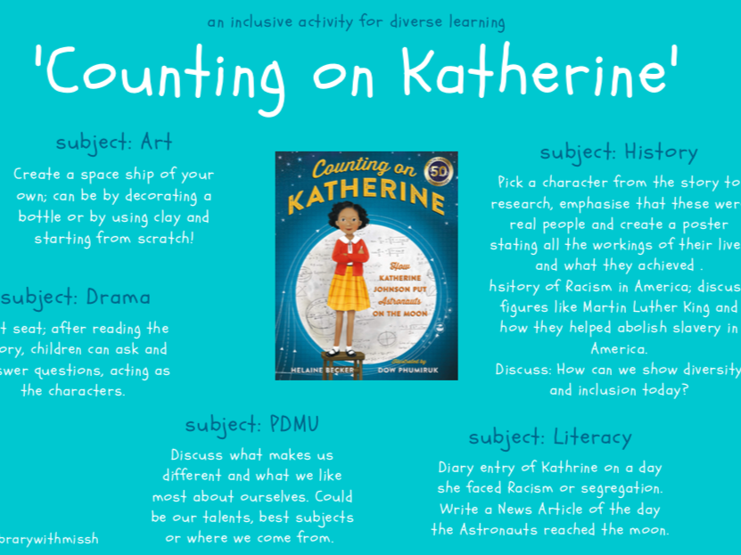 'Counting on Katherine' Inclusion and Diversity activity resource