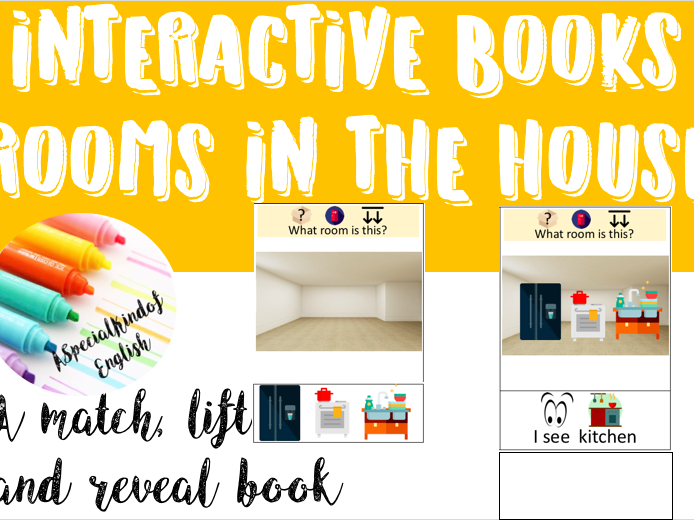 Interactive book: Rooms in the house