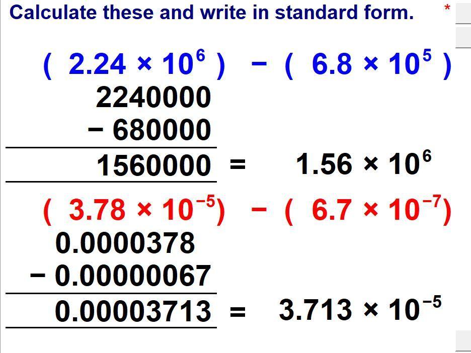 Standard Form & Scientific Notation