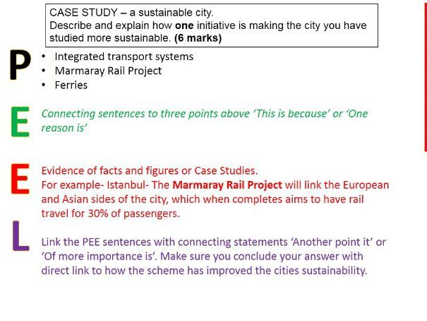 2017-2018 Year 11 OCR B Revision 26) Urban Futures Revision WITH ANSWERS