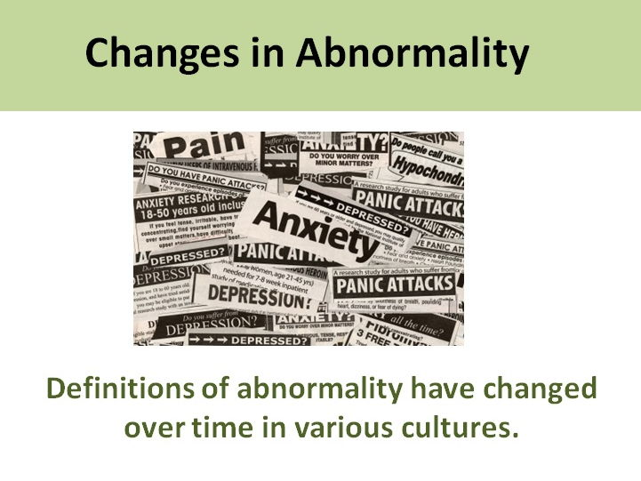Definitions of Abnormality - Clinical Psychology A Level