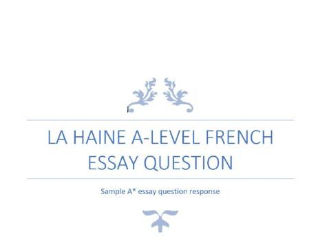 La Haine Sample Essay Question