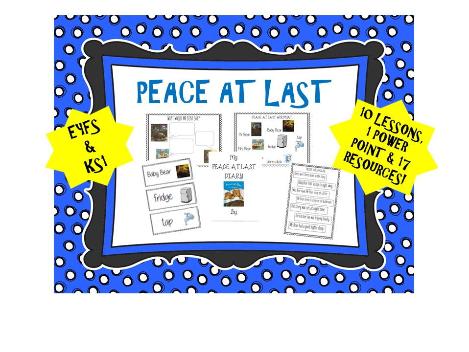 Peace At Last English Plan and Resources