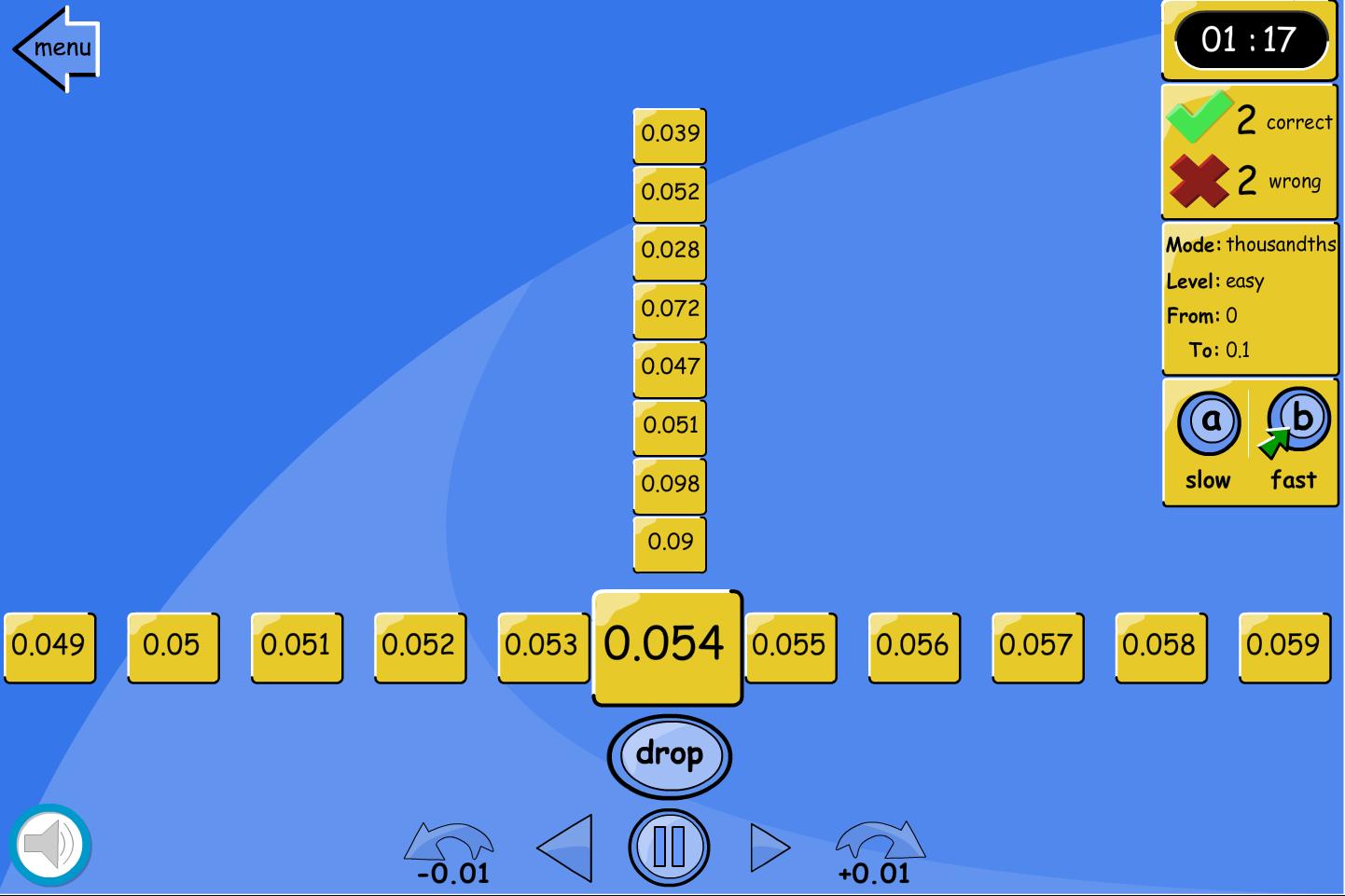 Number Line Drop: Thousandths - Interactive Activity - KS2 Number