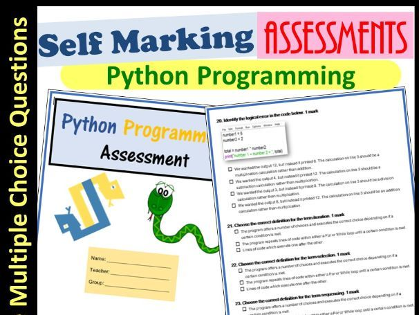 Python Programming Coding Assessments | Self Marking (Ages 11-16)