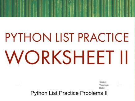 Python List Practice Problems II