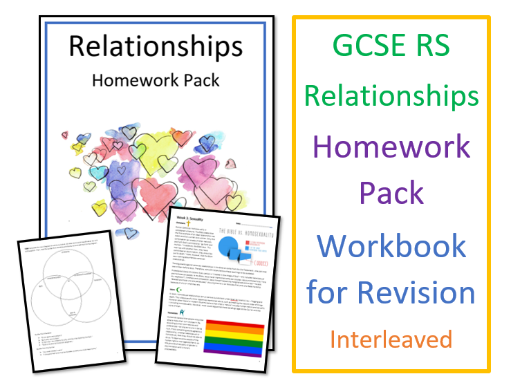GCSE RS Relationships Homework Pack / Workbook for Revision