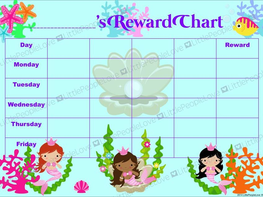 Reward Chart - Mermaid