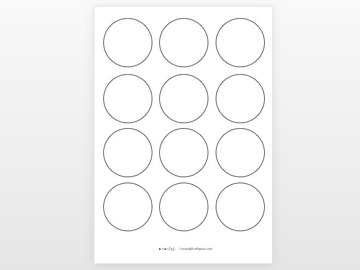 "3"" Circle Template (Set of 12)"
