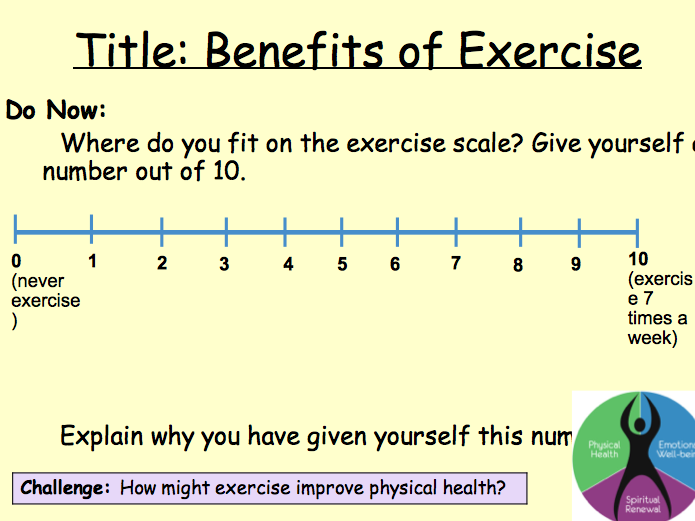 PSHE Health - exercise lesson 2