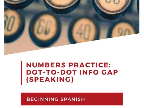 Dot-to-Dot: Spanish numbers and speaking for beginning learners