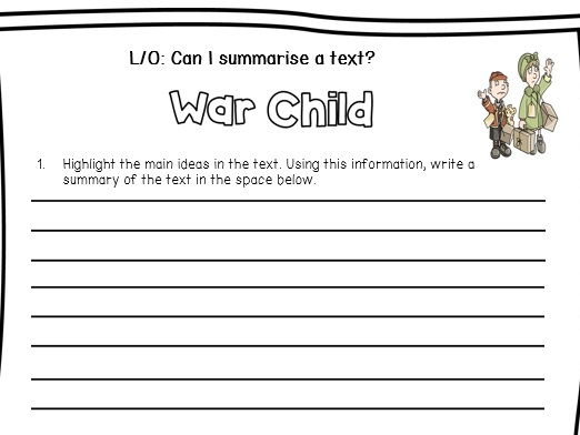 Reading Comprehension WW2 Evacuees With Skill Specific Question Sheets