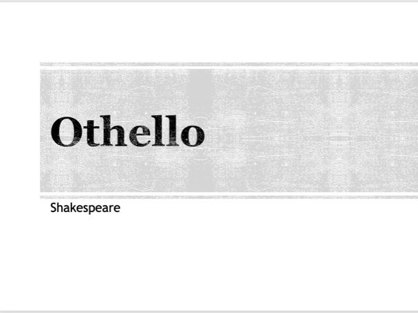 Othello A* Summary presentation