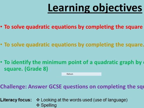 New GCSE Minimum points