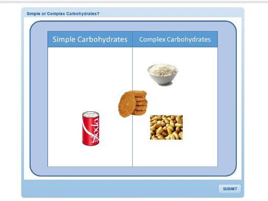 GCSE PE: Diet & Nutrition - Carbohydrates (Drag & Drop)