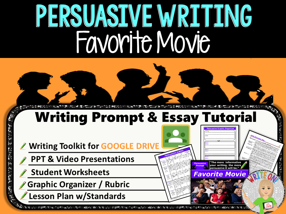 persuasive writing lesson prompt digital resource favorite  persuasive writing lesson prompt digital resource favorite movie middle school by morgenstern93 teaching resources tes
