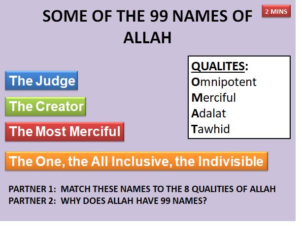 AQA RELIGIOUS STUDIES:  ISLAM BELIEFS NATURE OF ALLAH