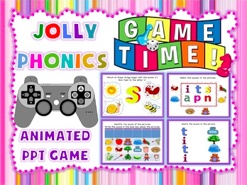 Phonics Game PPT (Jolly Phonics or any phonics program) with sound - Smartboard