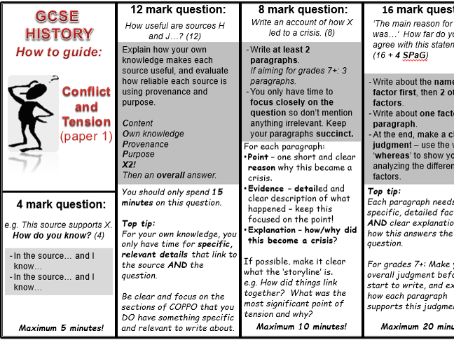 AQA new GCSE History Cold War exam Qs, models and answer guide