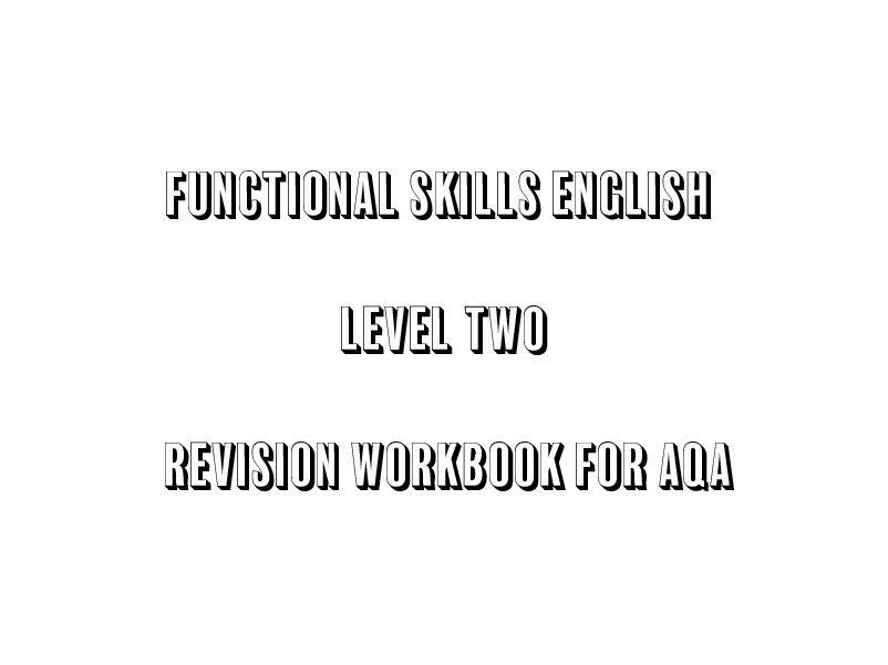 AQA Functional Skills English L2 Revision Pack for Exams