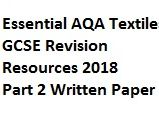 Insect Exam AQA GCSE Textiles 2018 - Written Paper Essential Revision Resources