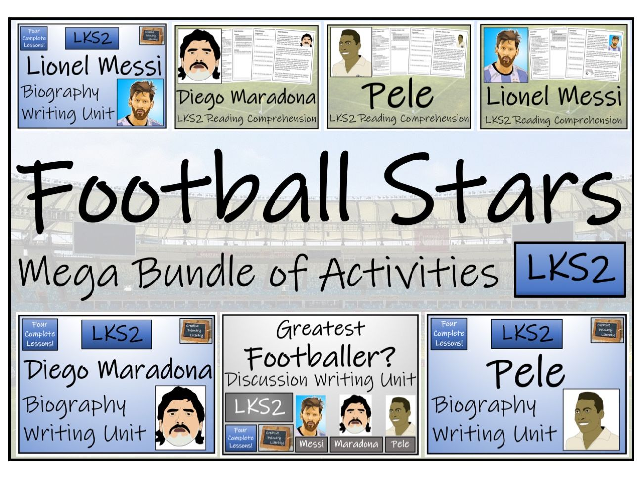 LKS2 Greatest Football Players Mega Bundle of Reading and Writing Activities