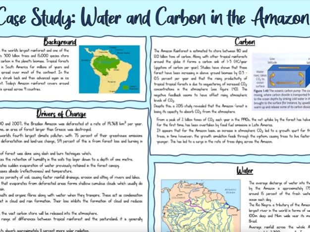 CASE STUDY: Water and Carbon in the Amazon