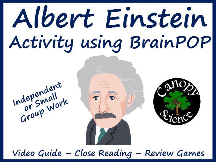 Albert Einstein Activity using BrainPOP