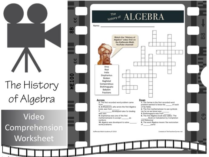 The History of Algebra (in just 5 minutes!)  Crossword Puzzle