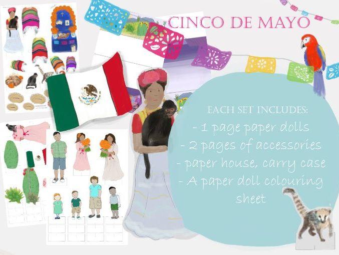 Cinco De Mayo Paper Doll Playset