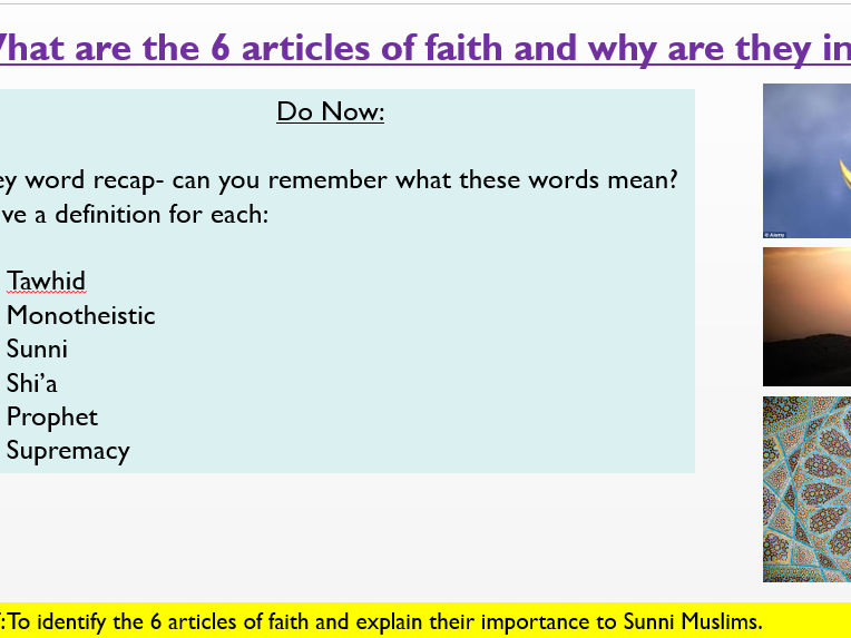 6 Articles Faith