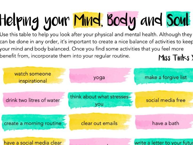Mind, Body and Soul - Wellbeing