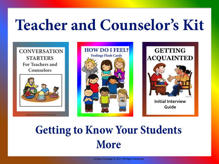 Teacher and Counsellor's Kit: Getting To Know Your Students More