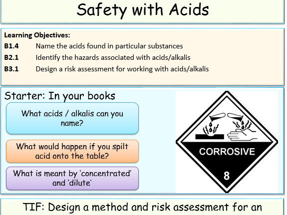 Safety with Acids