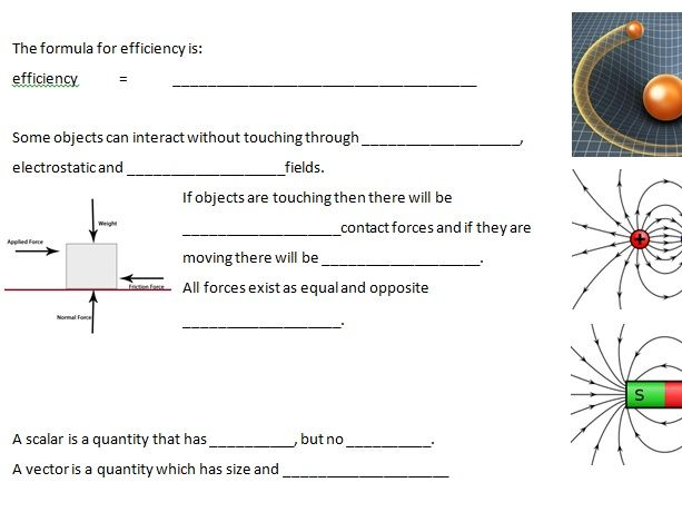 Edexcel GCSE 9-1 Physics CP8-9 Energy and Forces Revision
