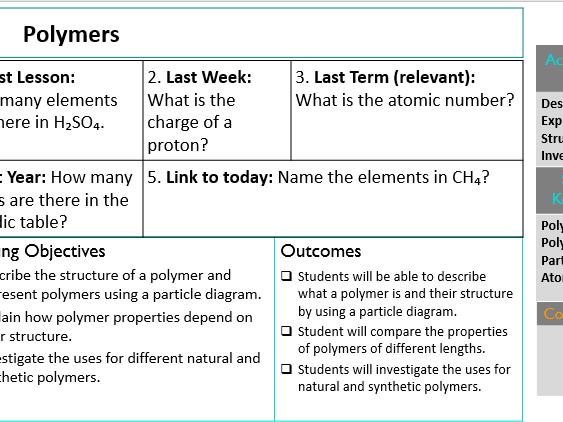 KS3 Polymers
