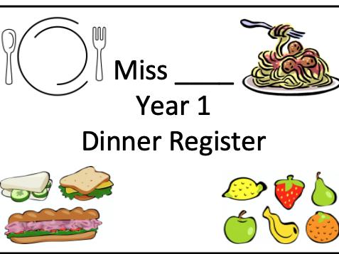 Dinner Register Label