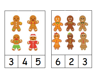 Gingerbread People Peg and Clip Cards 0 to 6 Maths resource for Early Years