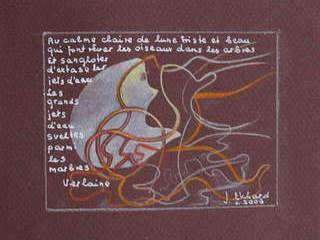 VERLAINE CLAIRE DE LUNE FRENCH LITERATURE POEM with translation