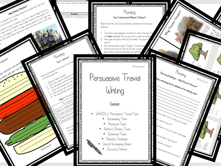 KS2 Persuasive Travel Writing Complete Unit of Work . Incl: WAGOLL, Reading  and Writing Tasks.