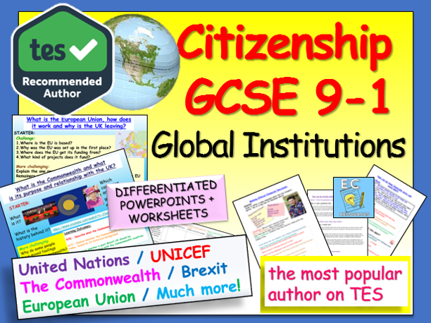EU, UN, Commonwealth Citizenship GCSE 9-1