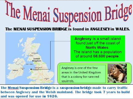 KS2 Geographical features: Bridges of Britain information sheets (10 A4 pages)
