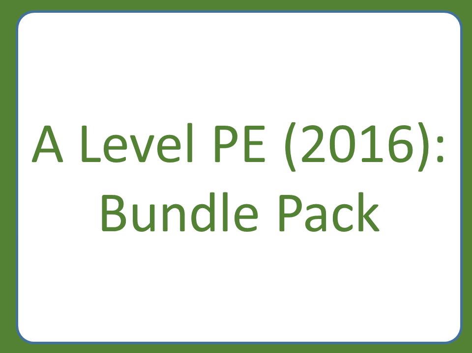 A Level PE (2016): Bundle Pack